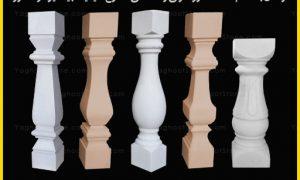 تولید و فروش انواع مدل های نرده سنگی گرد و چهارگوش